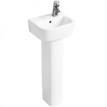 Ideal Standard Tempo Handrinse Basin and Pedestal 350mm Wide Right Hand 1 Tap Hole