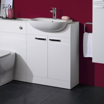 Ideal Standard Tempo Back to Wall WC Unit with Worktop 650mm Wide - Gloss White
