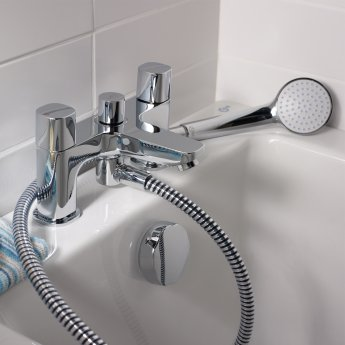 Ideal Standard Tempo Dual Control Bath Shower Mixer Set Chrome