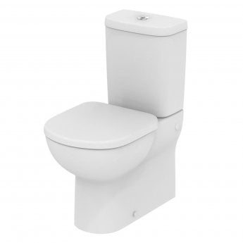 Ideal Standard Tempo Close Coupled Toilet 6/4 Litre Dual Flush Cistern - Soft Close 600mm D White