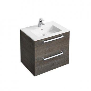 Ideal Standard Tempo 2-Drawer Vanity Unit 600mm Wide Sandy Grey