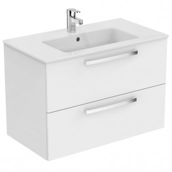Ideal Standard Tempo 2-Drawer Vanity Unit 800mm Wide Gloss White
