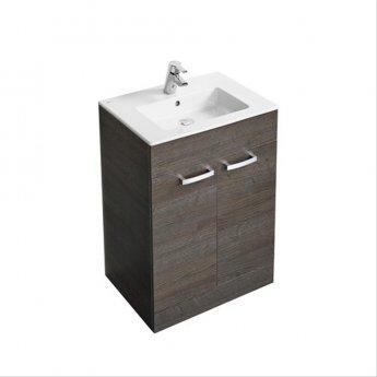 Ideal Standard Tempo Floor Standing 2-Door Vanity Unit 600mm Wide Sandy Grey