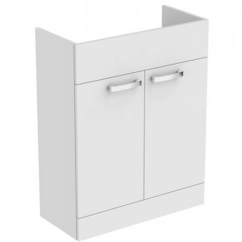 Ideal Standard Tempo 2-Door Semi Countertop Vanity Unit 650mm Wide Gloss White