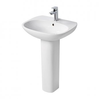 Ideal Standard Tesi Basin with Full Pedestal 600mm Wide - 1 Tap Hole