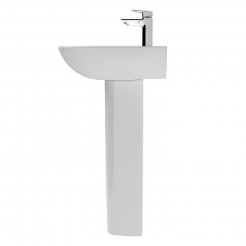 Ideal Standard Tesi Basin with Full Pedestal 550mm Wide - 1 Tap Hole