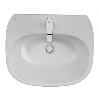 Ideal Standard Tesi Basin with Semi Pedestal 550mm Wide - 1 Tap Hole