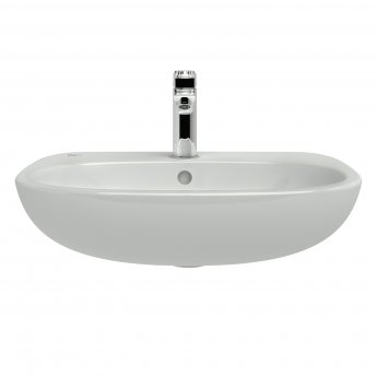 Ideal Standard Tesi Semi-Recessed Countertop Basin 550mm Wide - 1 Tap Hole