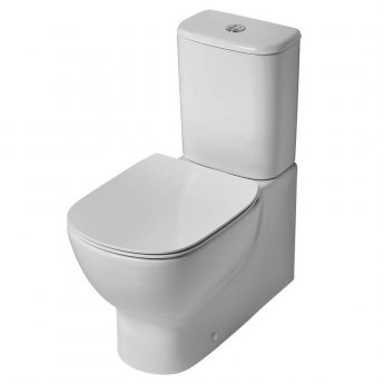 Ideal Standard Tesi Back to Wall Close Coupled Toilet with 4/2.6 Litre Cistern - Standard Seat