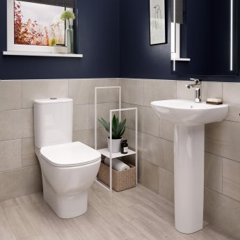 Ideal Standard Tesi Close Coupled Toilet with 4/2.6 Litre Cistern - Soft Close Seat and Cover