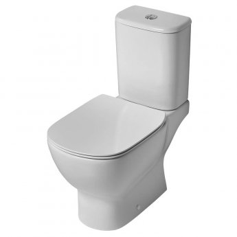 Ideal Standard Tesi Close Coupled Toilet with 6/4 Litre Cistern - Soft Close Seat and Cover