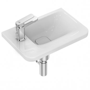Ideal Standard Tonic 2 Asymmetric Washbasin 460mm Wide - Left Hand