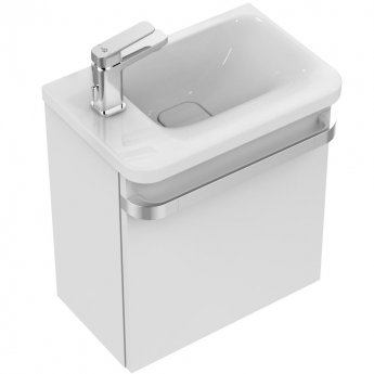 Ideal Standard Tonic 2 RH Vanity Unit with LH Basin 450mm Wide Gloss White