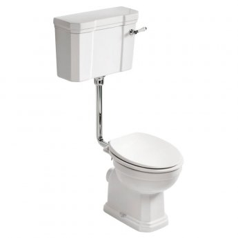 Ideal Standard Waverley Low Level Toilet with Cistern - Standard White Seat