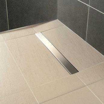 Impey Aqua-Dec Linear 2 Wet Room Former, 900mm x 900mm, Linear Waste
