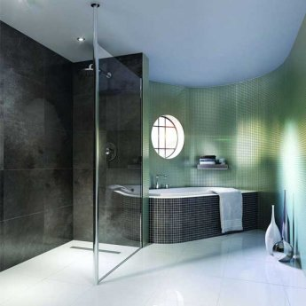 Impey Aqua-Dec Linear 4 Wet Room Former, 1200mm x 1200mm, Linear Waste