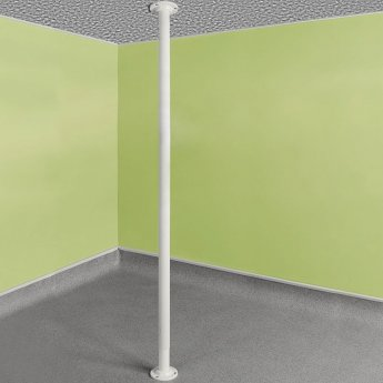 Impey Floor to Ceiling Grab Pole - White