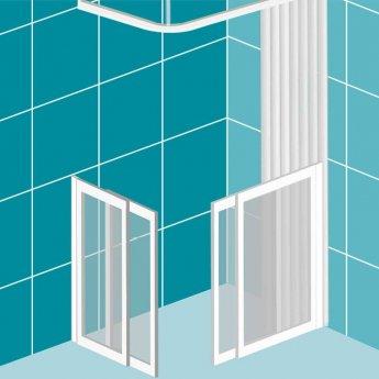 Impey Elevate Option 1 Corner Half Height Door 1500mm x 710mm - Right Handed