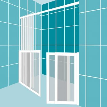 Impey Elevate Option 4 Alcove Half Height Door 1850mm Wide - Non Handed