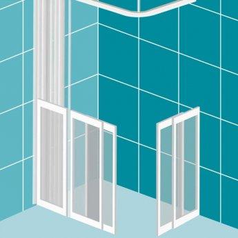 Impey Elevate Option 6 Corner Half Height Door 1500mm x 900mm - Left Handed