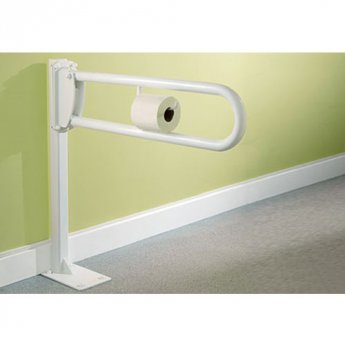 Impey Fold Down Rail 760mm with Toilet Roll Holder