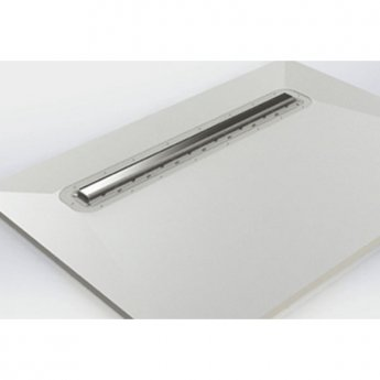Impey Linear Drain 400mm, Stainless Steel Cover, Horizontal Outlet