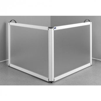 Impey Portable Folding Shower Screen 750mm High x 650mm x 650mm