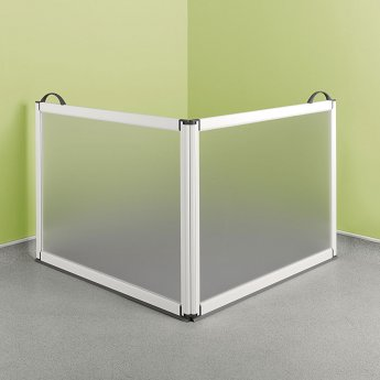 Impey Portable Folding Shower Screen 750mm High x 750mm x 750mm