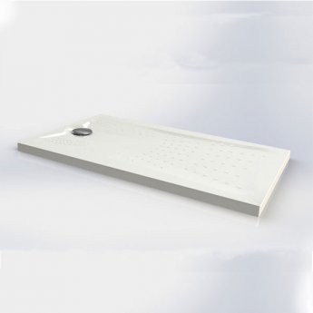 Impey Radiate Universal Rectangular Shower Tray with Waste 1300mm x 700mm White