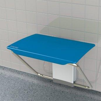 Impey Slimfold Shower Bench, Sky Blue