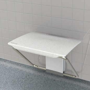 Impey Slimfold Assisted Living Shower Bench - White
