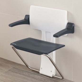 Impey Slimfold Assisted Living Shower Seat - Grey