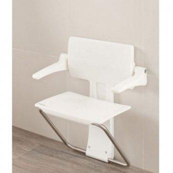 Impey Slimfold Bathroom Shower Seat - White