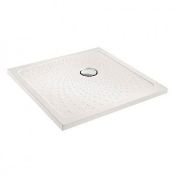 Impey Slimline 35 Square Shower Tray with Waste 1000mm x 1000mm Flat Top