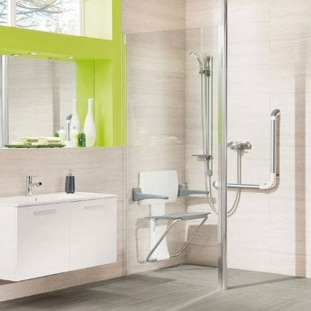 Impey Supreme Glass Shower Panel, 1200mm Wide, Plain Glass