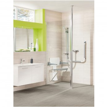 Impey Supreme Glass Shower Panel, 800mm Wide, Plain Glass