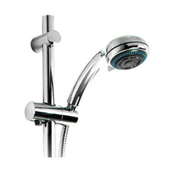 Impey Shower, Extra-Long Riser Rail, Hose and Head Pack, Chrome