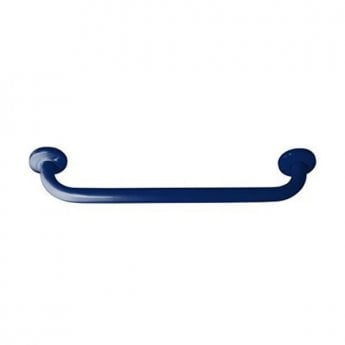 Inta 600mm Powder Coated Grab Rail with Concealed Fixings, Blue