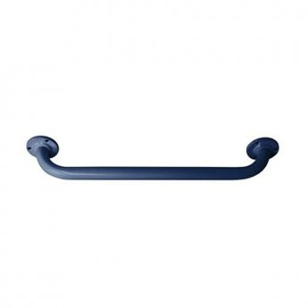 Inta 600mm Powder Coated Grab Rail with Exposed Fixings, Blue