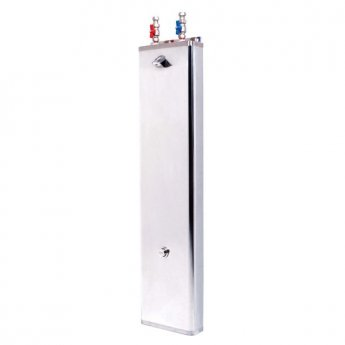 Inta Shower Panel with Timed Flow Control and Mixing Valve Stainless Steel