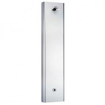 Inta Shower Panel with Infrared Control and Vandal Resistant Shower Head Stainless Steel