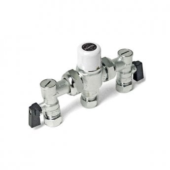 Intamix Thermostatic Mixing Valve 15mm with Service Valves