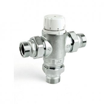 Intamix Pro Thermostatic Mixing Valve 1/2 with Screwed Iron with Check Valves