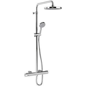 Inta Puro Safe Touch Bar Shower with Telescopic Riser Kit and Fixed Head Chrome