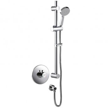 Inta Puro Thermostatic Mini Concentric Dual Control Concealed Shower Rail Kit & Eco Head - Chrome