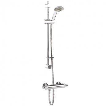 Inta Telo Complete Thermostatic Bar Shower with Flexible Slider Kit - Chrome