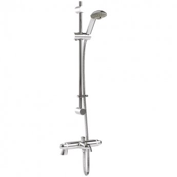 Inta Telo Thermostatic Bath Shower Mixer Tap with Shower Kit & Legs - Chrome