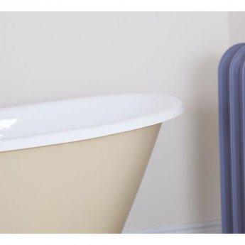 Jig Berwick Cast Iron Roll Top Slipper Bath including Chrome Feet - 2 Tap Hole