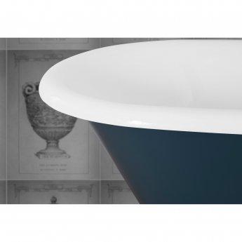 Jig Cambridge Cast Iron Roll Top Bath including White Feet - 0 Tap Hole
