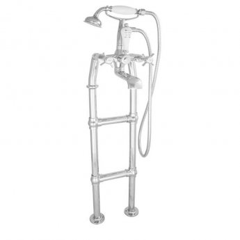 Jig Freestanding Large Mixer Taps 700mm H Pipe - Chrome